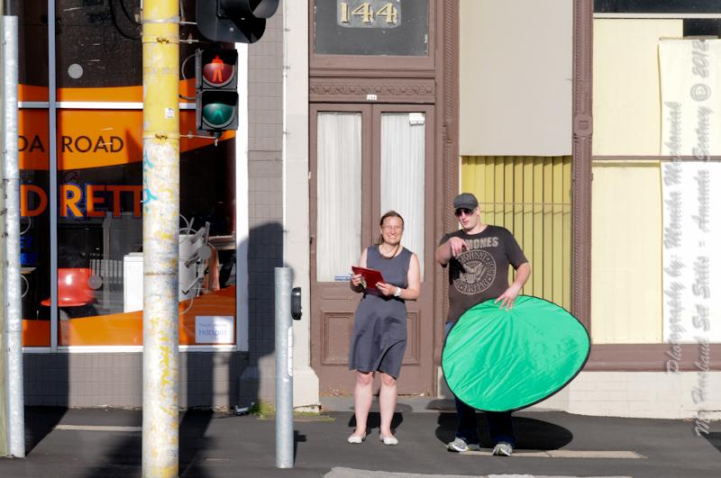 Matt and Amanda on St Kilda Road