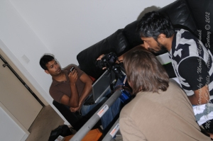 Chandra preparing to film Kalyan - jib shot